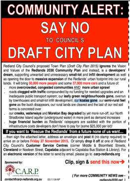 It is understood more than 6 400 submissions were lodged in response to the draft City Plan 2015