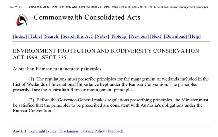 FOSI submission attachment EPBC Act sect 335