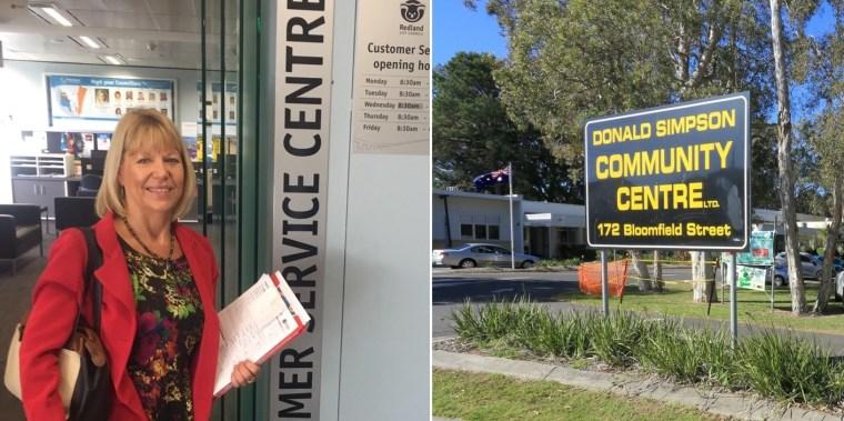 Donald Simpson Centre petition presented to Redland City Council