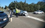 Accident on Cleveland-Redland Bay Road 8:10 am on 10 October 2017