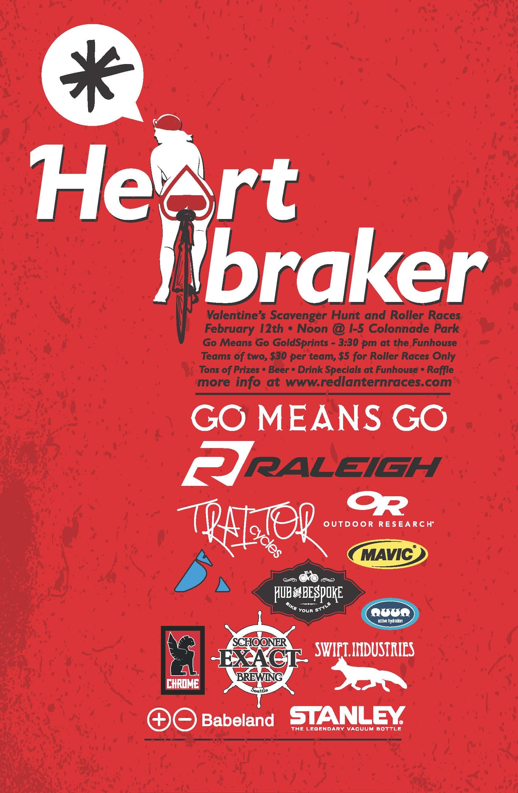 heart braker urban scavenger hunt poster