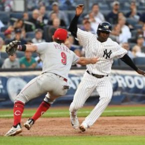 Reds turn first trip play in 21 years, but fall to the Yankees