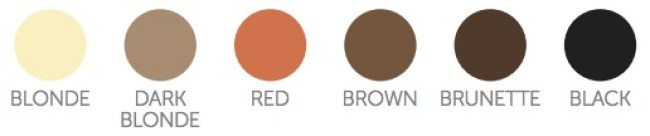 2 hair colour chart LASER HAIR REMOVAL