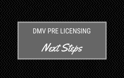 pre-licensing next steps