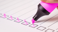 Checklist for auto registration processing
