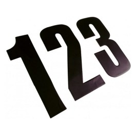 RACE NUMBERS BLACK 4.5 APICO