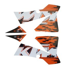 KTM GRAPHICS DECAL SET 50 SX 2008