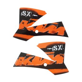 KTM TANK SPOILER SHROUDS GRAPHICS DECAL SET 65 SX 2006