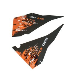 KTM REAR GRAPHIC DECALS 200 EXC 2008