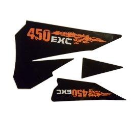KTM REAR GRAPHIC DECALS 450 EXC 2007