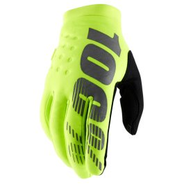 100% BRISKER YOUTH COLD WEATHER GLOVE FLUO YELLOW