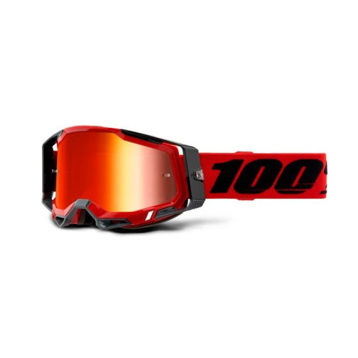 RACECRAFT 2 GOGGLE RED - MIRROR RED LENS
