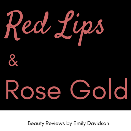 Red Lips & Rose Gold