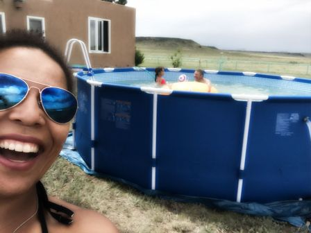 We got a pool!