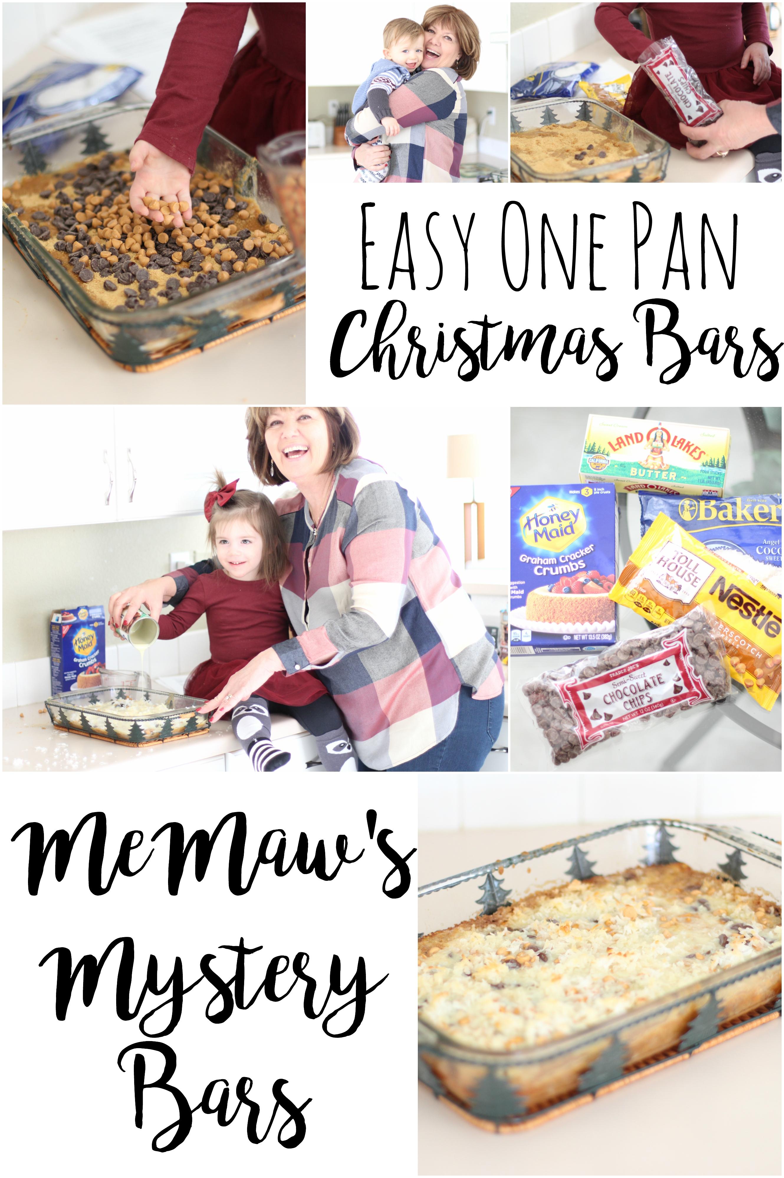 Easy One Pan Christmas Bars: MeMaw's Mystery Bars