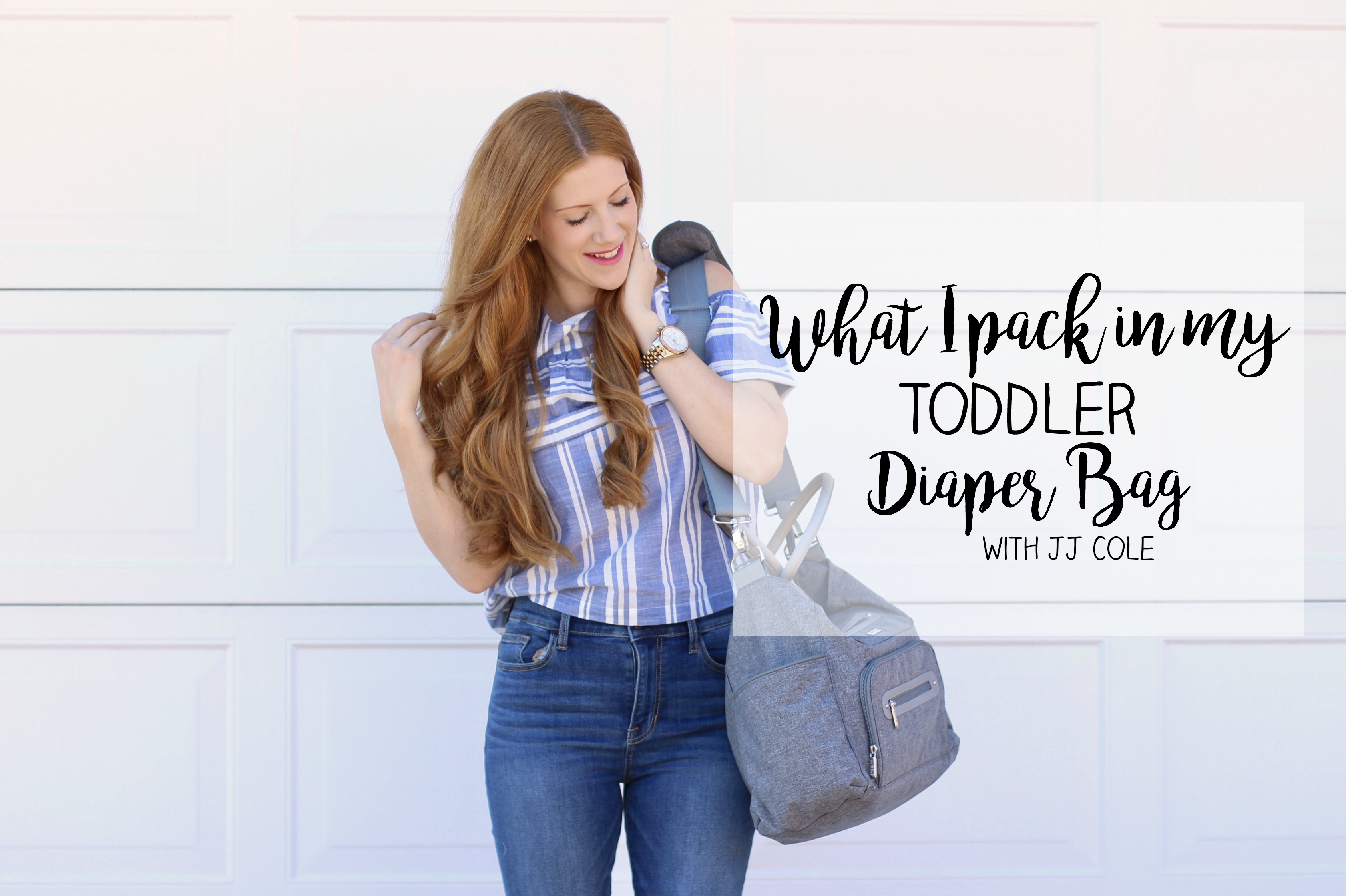 How I Pack My Toddler Diaper Bag with JJ Cole!
