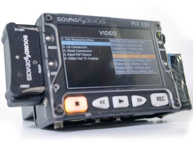 Sound Devices PIX 220 HD video and audio recorder with ProRes 444 330Mb/s 12bit recording
