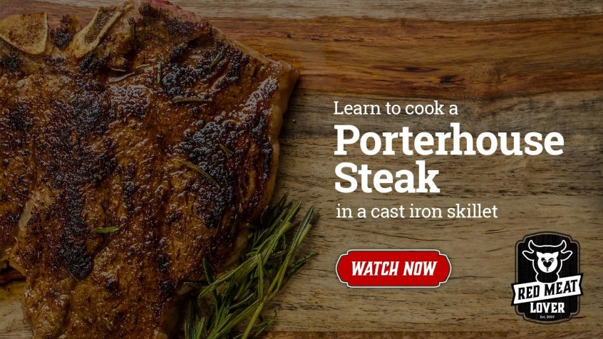 Porterhouse Steak cast iron skillet video recipe