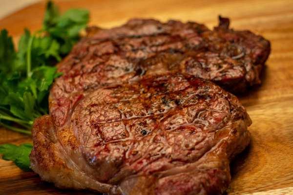 Ribeye Steak on a charcoal grill