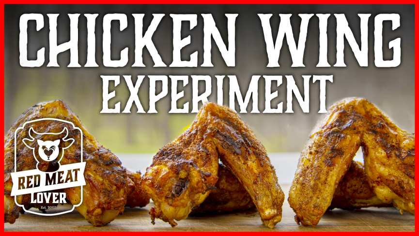 Crispy Grilled Chicken Wing Experiment