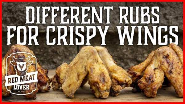 Different rubs for crispy chicken wings