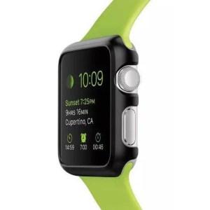 Protectie plastic apple watch neagra