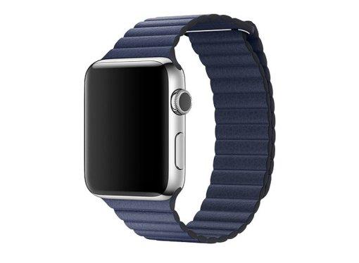Curea piele bleumarin pentru Apple Watch