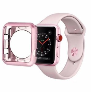 husa silicon rose apple watch