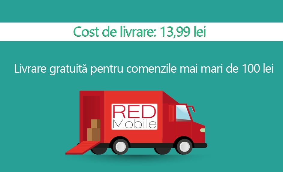 livrare prin curier red mobile