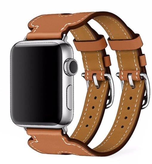 curea piele dubla apple watch eleganta