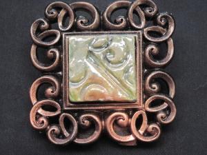 mini raku black copper fram $10