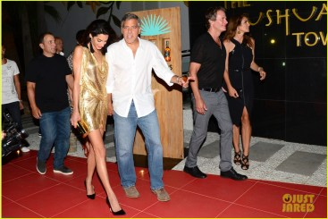 "**USA ONLY** Ibiza, Spain - George Clooney seems to be in good company as he is seen at the red carpet launch of his tequila brand ""Casamigos"", along with wife, Amal Aladdin and good friends Cindy Crawford and Rande Gerber. George and Rande co-founded the brand and were busy promoting their tequila line while in Ibiza. AKM-GSI August 23, 2015 **USA ONLY** To License These Photos, Please Contact : Steve Ginsburg (310) 505-8447 (323) 423-9397 steve@akmgsi.com sales@akmgsi.com or Maria Buda (917) 242-1505 mbuda@akmgsi.com ginsburgspalyinc@gmail.com"