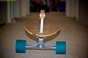 """Frosty Pez, ready for summer on the longboard!"""
