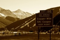Copper Mountain Ski Resort, just north of Leadville.