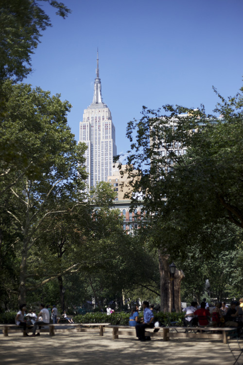 Empire State Building as seen from Madison Square Park