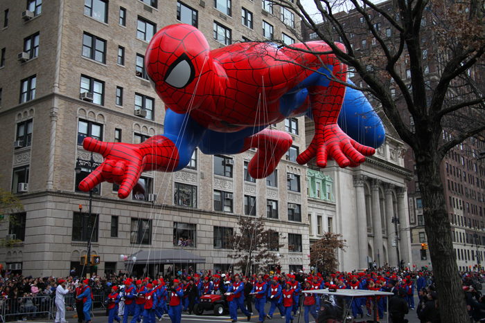 The parade started with Spiderman, of course