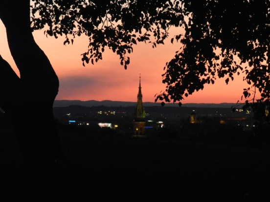 This photo is a little burry, but a nice shot of the city from the area around Krakus Mound.