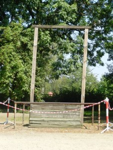 Rudolf Hoess (architect and commandant of Auschwitz) was hanged here at the gallows next to the gas chamber.