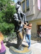 Franz Kafka Monument in the Jewish Quarter