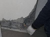 エポキシ樹脂モルタル充填工法 錆鉄筋ケレン清掃