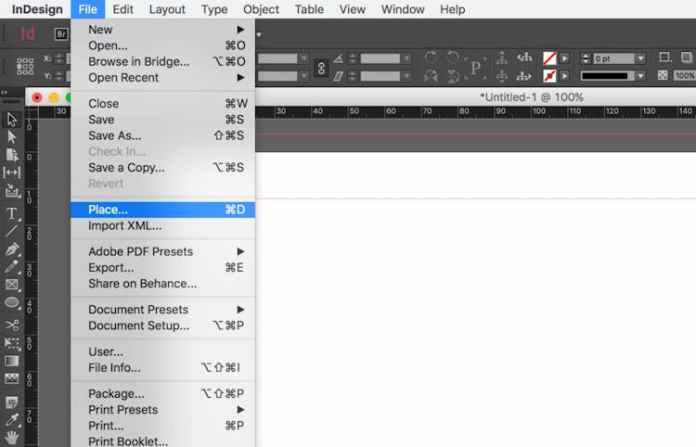 Bir Excel dosyasını InDesign'a aktarın: Yerleştir ...