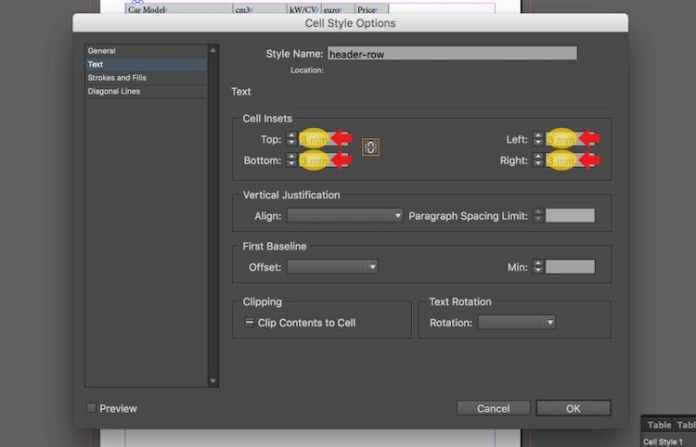 Excel dosyasını InDesign'a aktarma: hücre iç metinlerini değiştirme