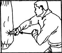 ištieskite varpą ranka