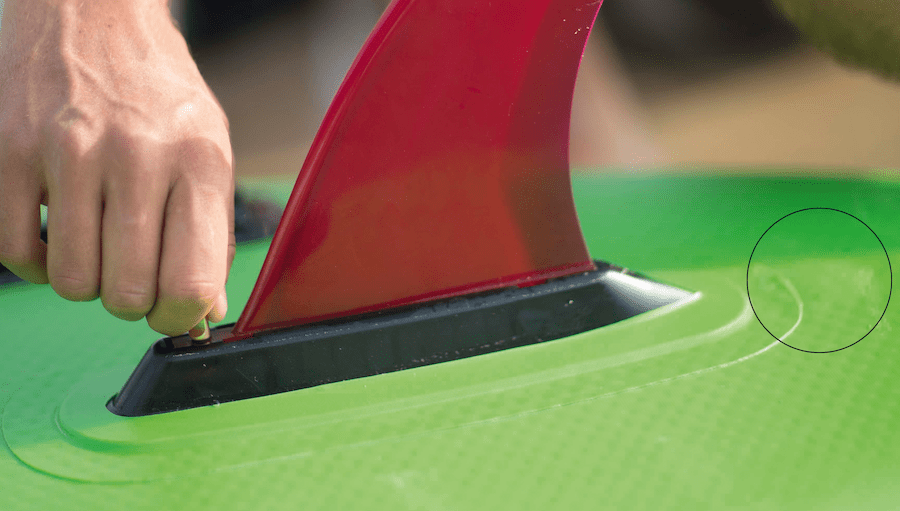 Red Paddle Co bump on board