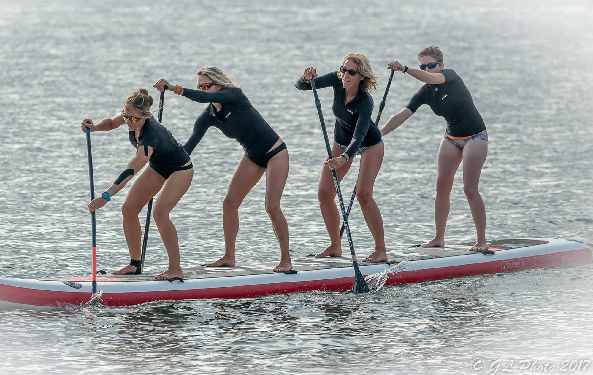 Dragon Angels paddle boarding