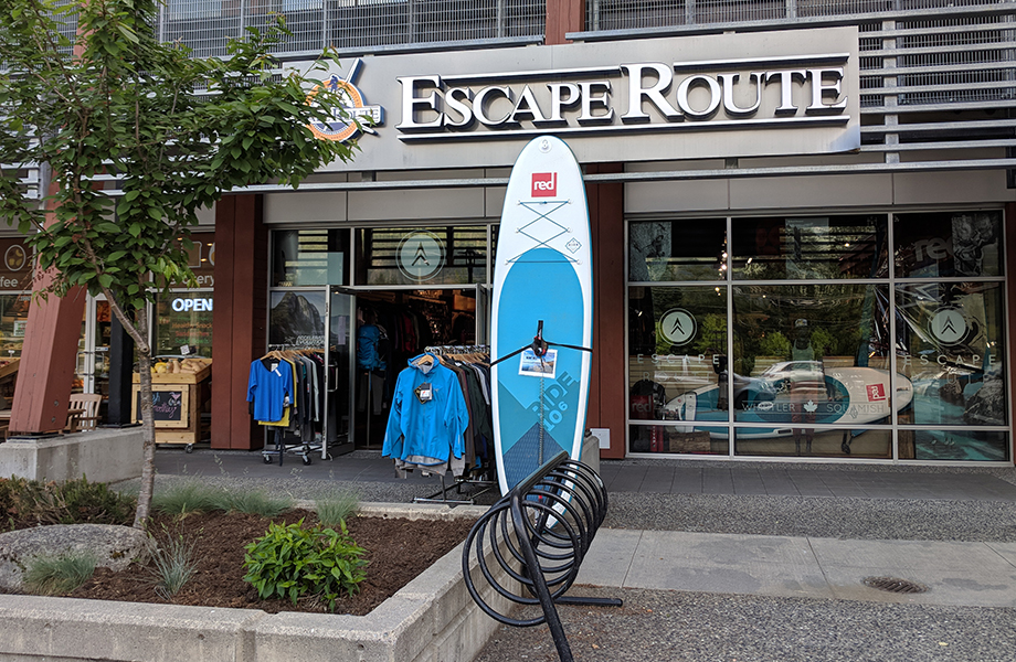 outside of Escape Route in Squamish Canada, spring