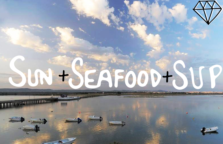 Sun seafood and SUP clouds