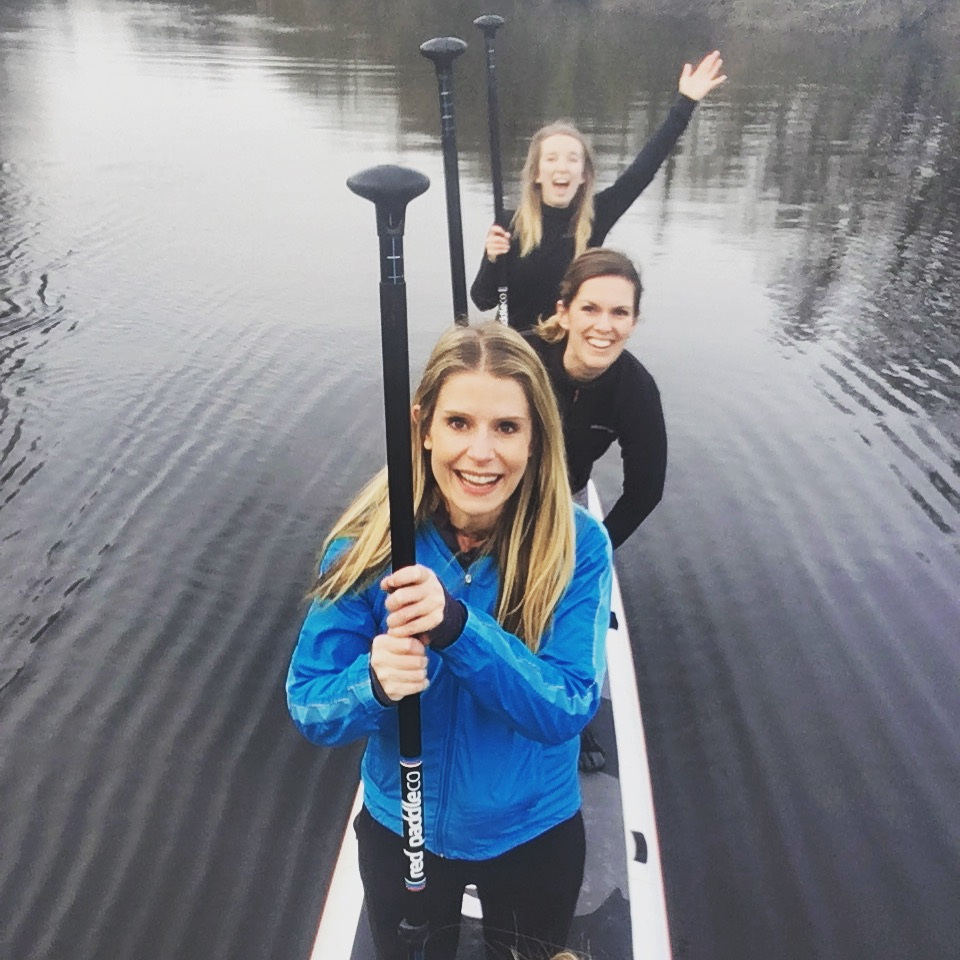 Team Red take on the Head of the Dart Paddleboard Race
