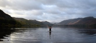 Swimming at Derwentwater
