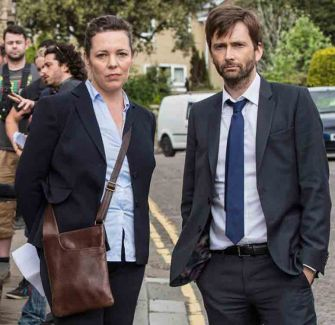 David Tennant with Olivia Colman